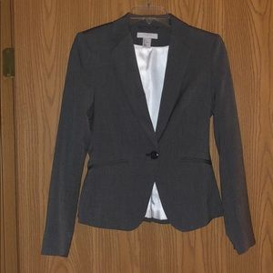 Black & white Shepard's check blazer